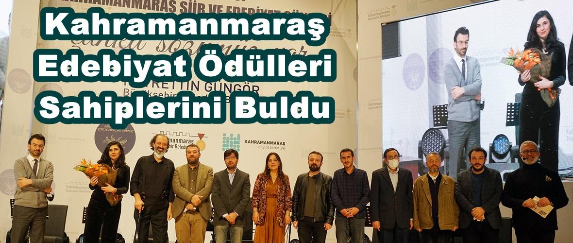Kahramanmaraş Edebiyat Ödülleri Sahiplerini Buldu.