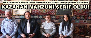 Uluslararası Aşık Mahzuni Şerif Besteleri Şampiyonları Afşin'den!