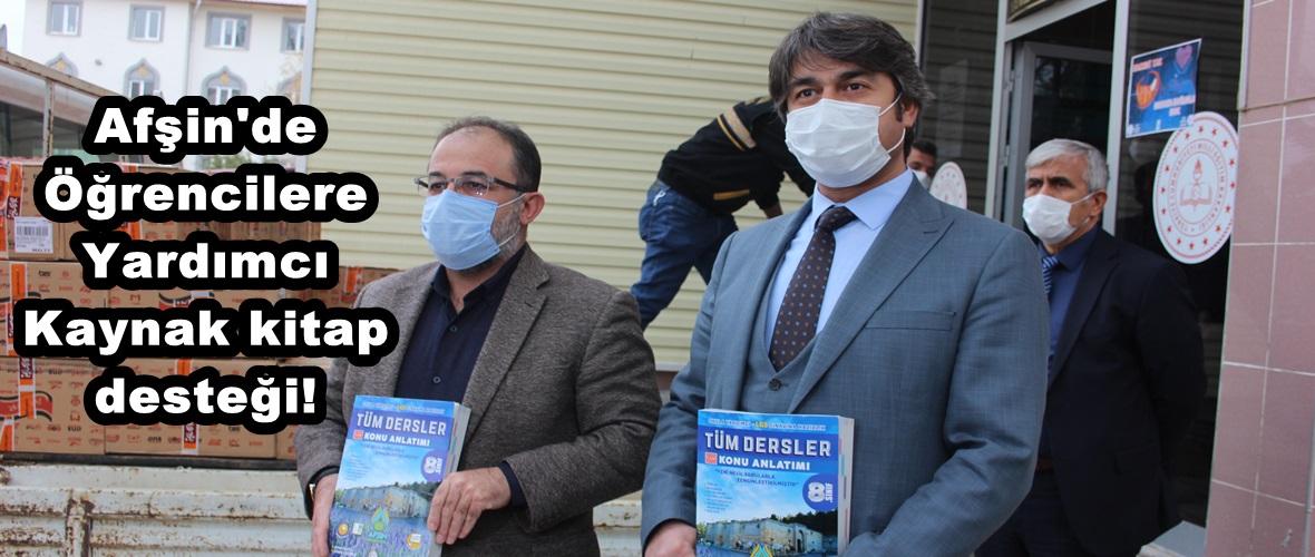 Afşin'de Öğrencilere Yardımcı Kaynak kitap desteği!