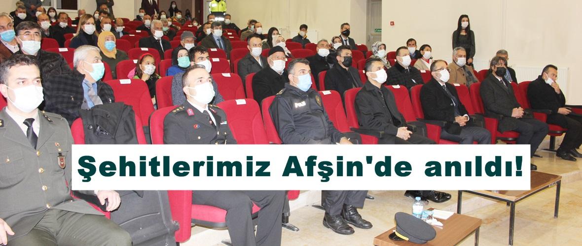 Şehitlerimiz Afşin'de anıldı!