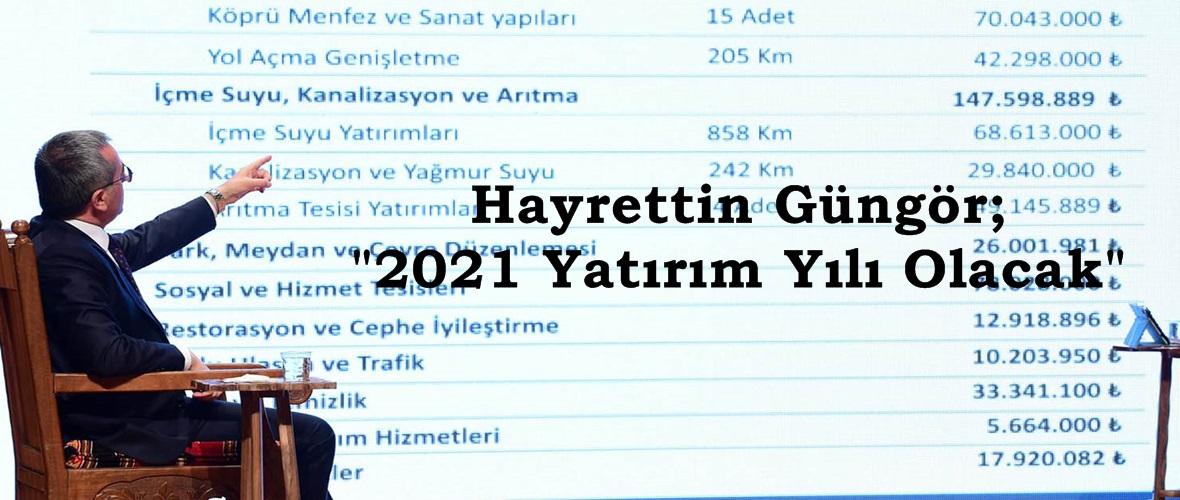 """Hayrettin Güngör; """"2021 Yatırım Yılı Olacak"""""""