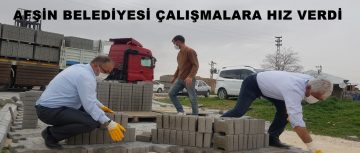 AFŞİN BELEDİYESİ ÇALIŞMALARA HIZ VERDİ!