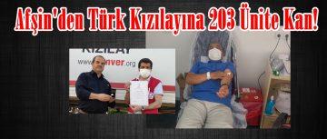 Afşin'den Türk Kızılayına 203 Ünite Kan!
